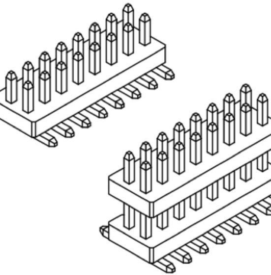 Produkt Nr. A100150 (1.00 mm Pitch; SMT)