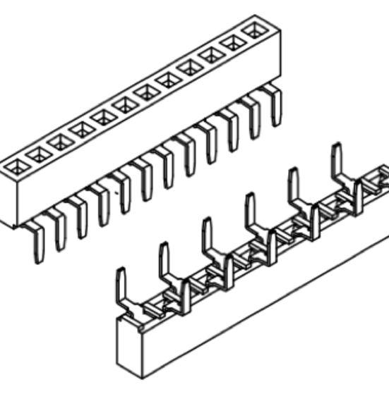 Produkt Nr. B254115 (2.54 mm Pitch; THT)