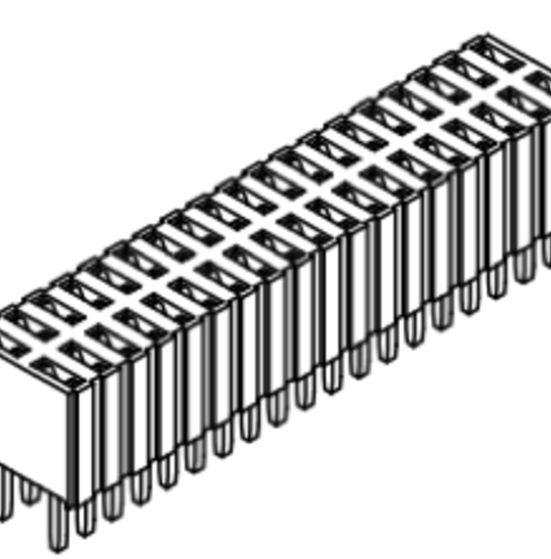 Produkt Nr. B127106 (1.27 mm Pitch; THT)
