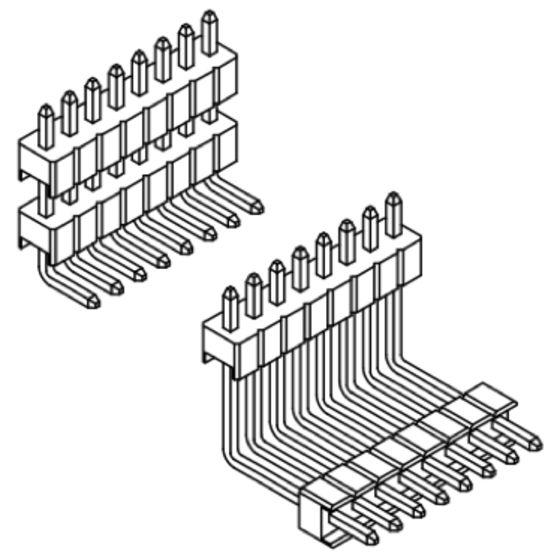 Produkt Nr. A127127 (1.27 mm Pitch; THT)