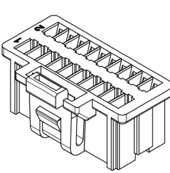 Produkt Nr. D100408 (1.00 mm Pitch Housing and Contact)