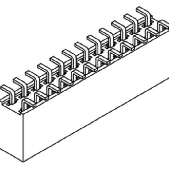 Produkt Nr. B254158 (2.54 mm Pitch; SMT)