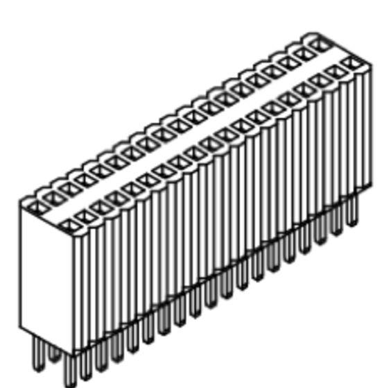 Produkt Nr. B127108 (1.27 mm Pitch; THT)