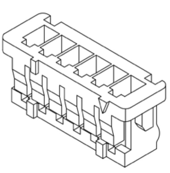 Produkt Nr. D125403 (1.25 mm Pitch Housing and Contact)