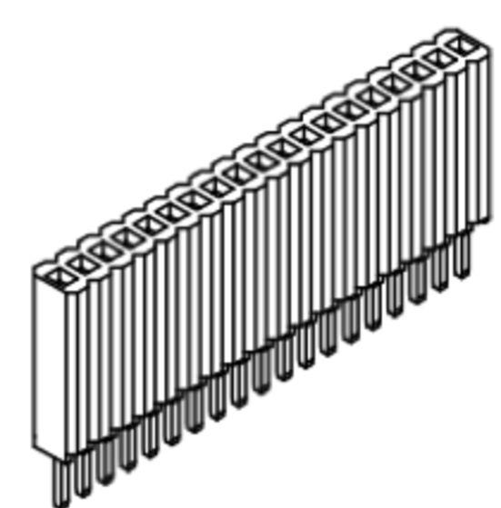 Produkt Nr. B127107 (1.27 mm Pitch; THT)