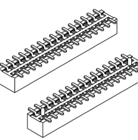 Produkt Nr. B100150 (1.00 mm Pitch; SMT)