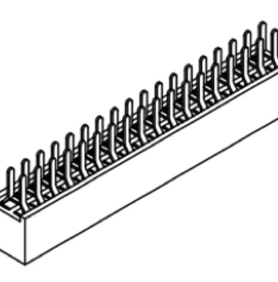 Produkt Nr. B127102 (1.27 mm Pitch; THT)