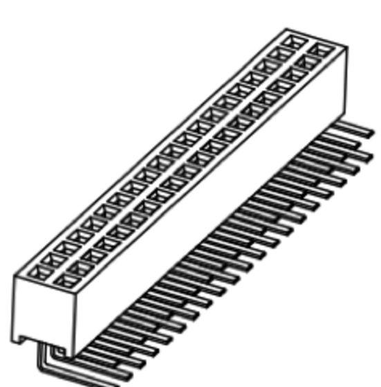 Produkt Nr. B127122 (1.27 mm Pitch; THT)