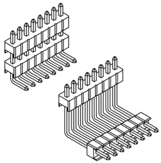 Produkt Nr. A127129 (1.27 mm Pitch; THT)