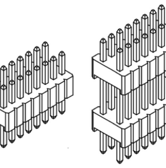 Produkt Nr. A127140 (1.27 mm Pitch; THT)