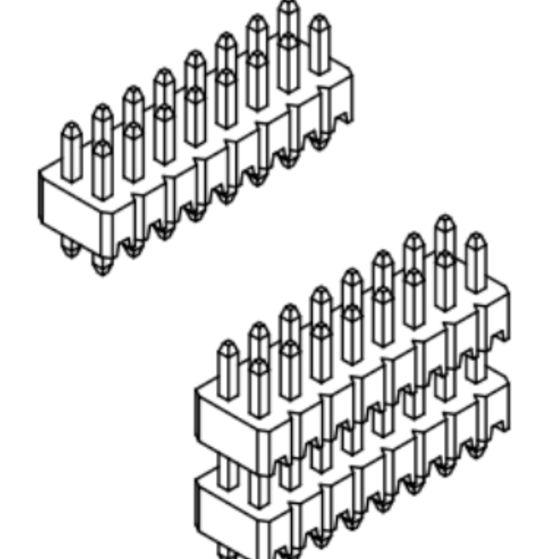 Produkt Nr. A127102 (1.27 mm Pitch; THT)