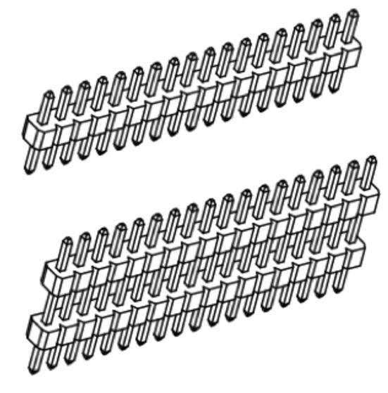 Produkt Nr. A100101 (Singel Row, Pin Head)