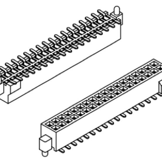 Produkt Nr. B127184 (1.27 mm Pitch; SMT)