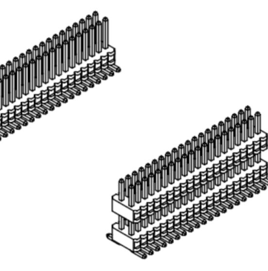 Produkt Nr. A080150 (Dual Row Pin Header )
