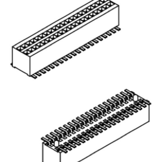 Produkt Nr. B080150 (0.80 mm Pitch; SMT)