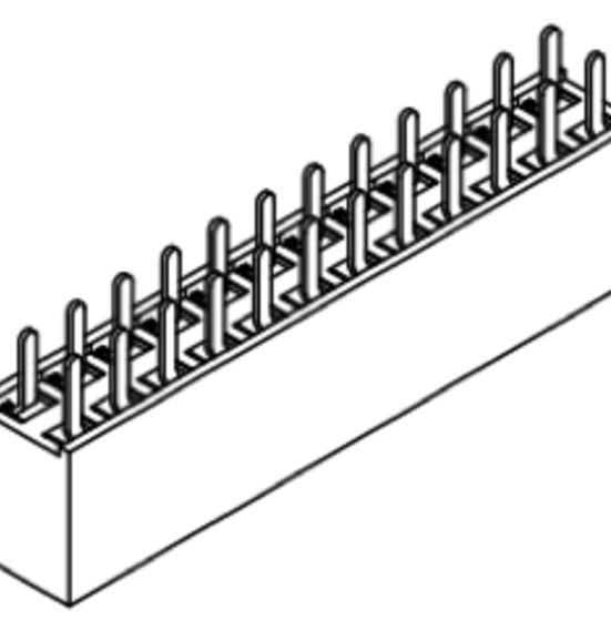 Produkt Nr. B254102 (2.54 mm Pitch; THT)